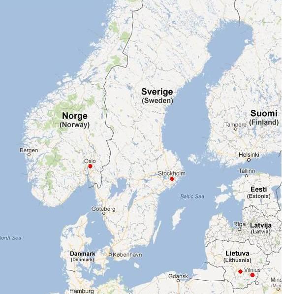Contus accounting in Baltics and Scandinavia
